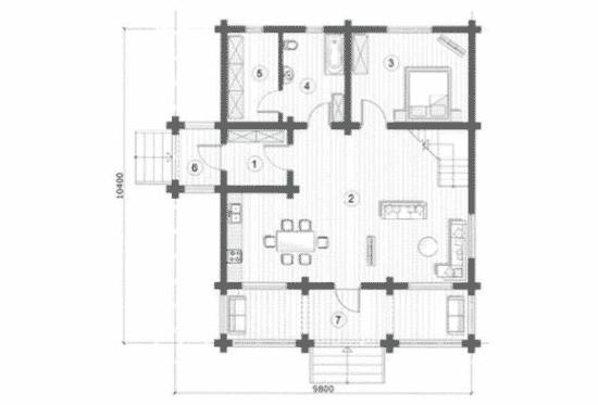 План N1 проекта дома из бревна АСД-Марьина Роща
