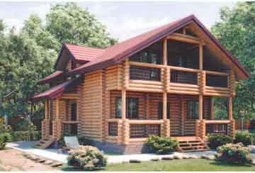 Дом из бревна АСД-Марьина Роща