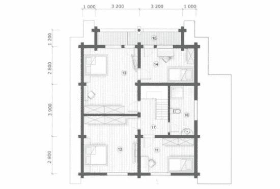 План N2 проекта дома из бревна АСД-Одинцово