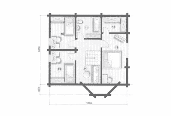 План N2 проекта дома из бревна АСД-Южная Ночь