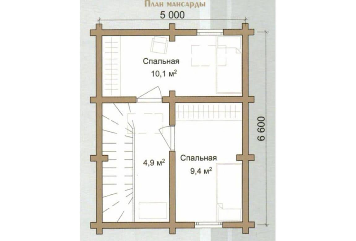 План N2 проекта дома из бревна АСД-Урал