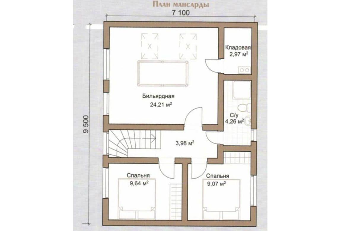 План N2 проекта дома из бревна АСД-Дубки