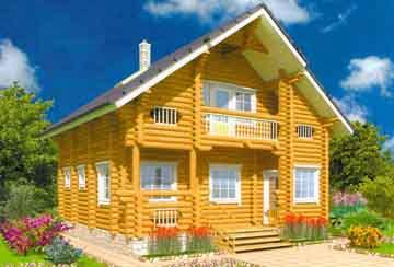 Дом из бревна АСД-Василиск