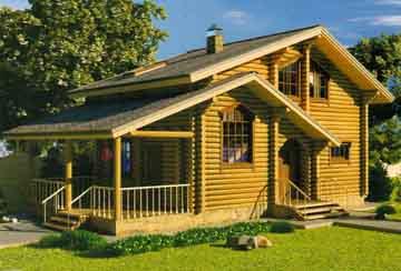 Дом из бревна АСД-Оранжевое Солнце