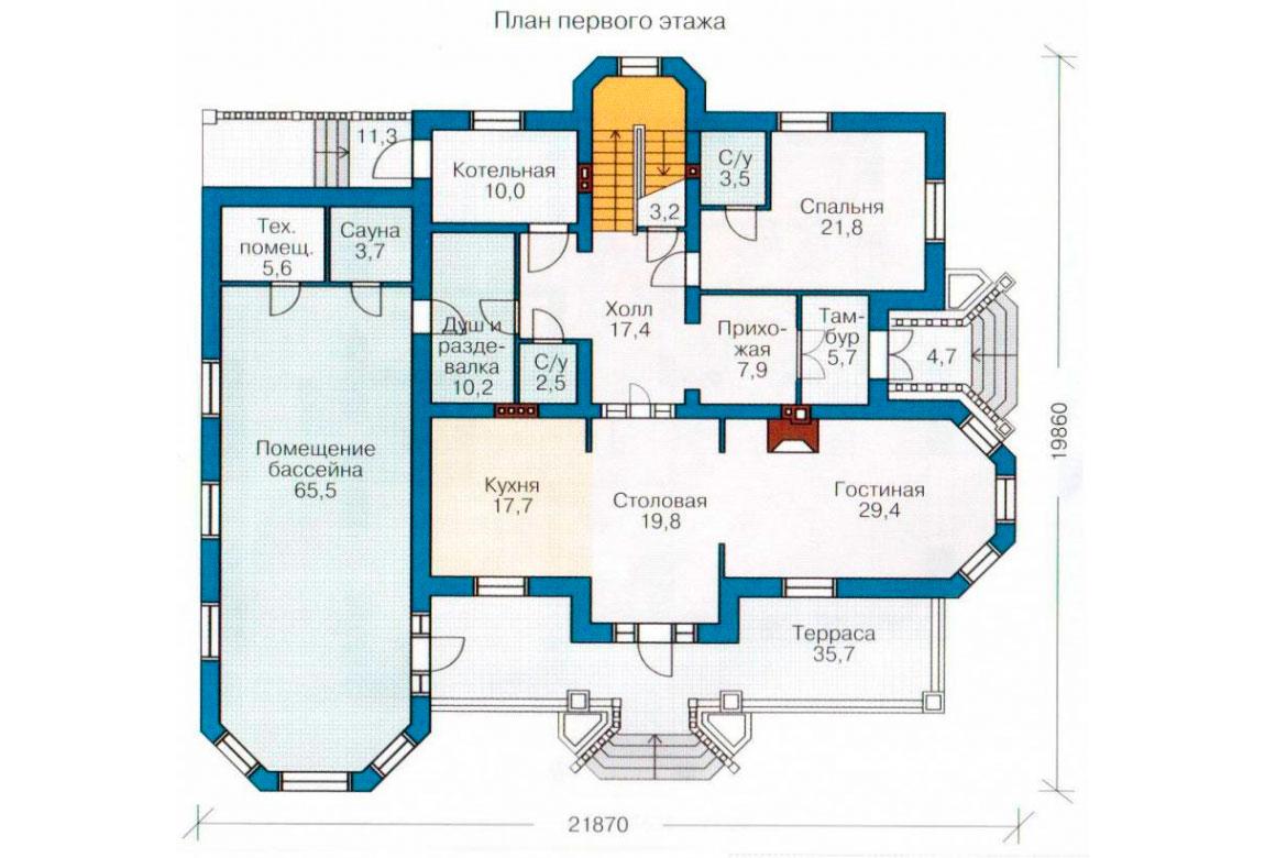 План N2 проекта кирпичного дома АСД-1077