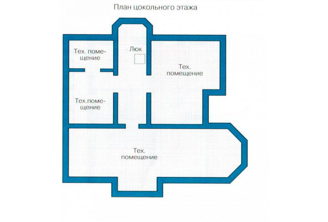 План N3 проекта кирпичного дома АСД-1077