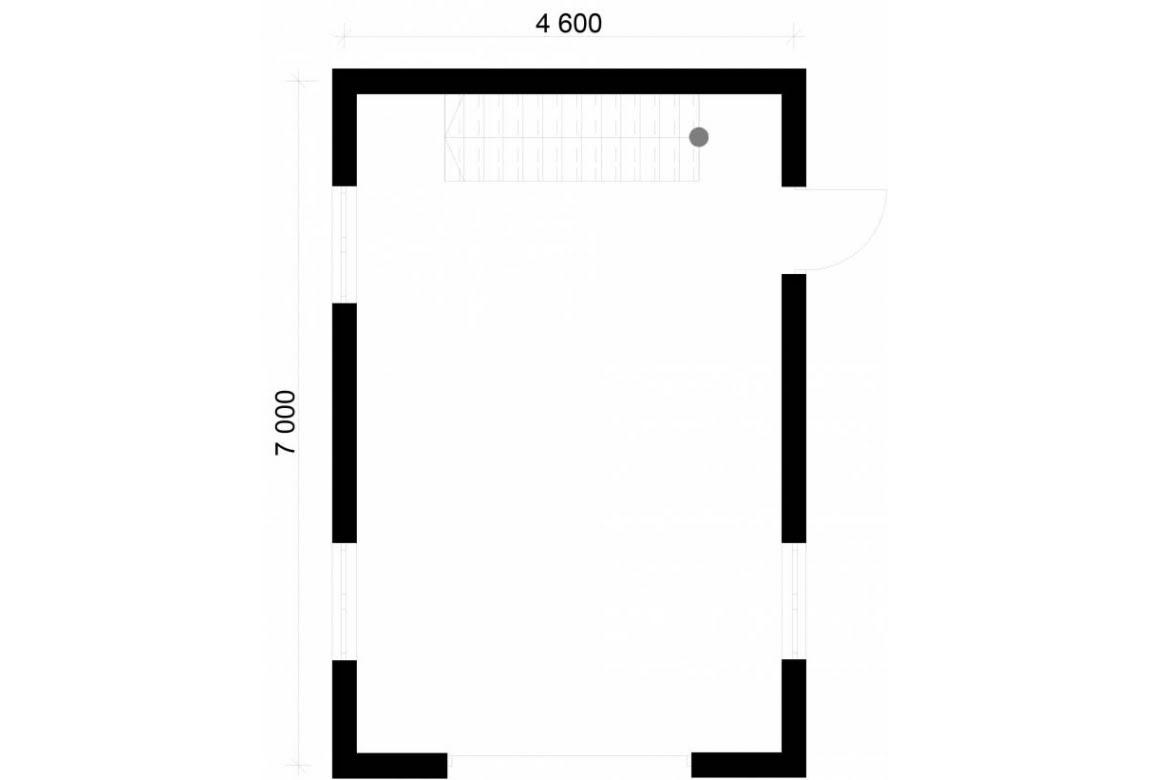 План N1 проекта гаража АСД-1777