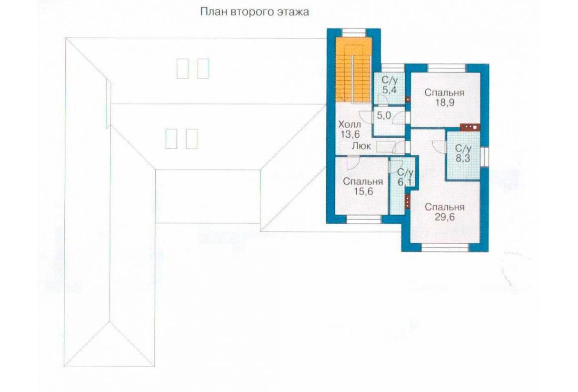 План N1 проекта кирпичного дома АСД-1078