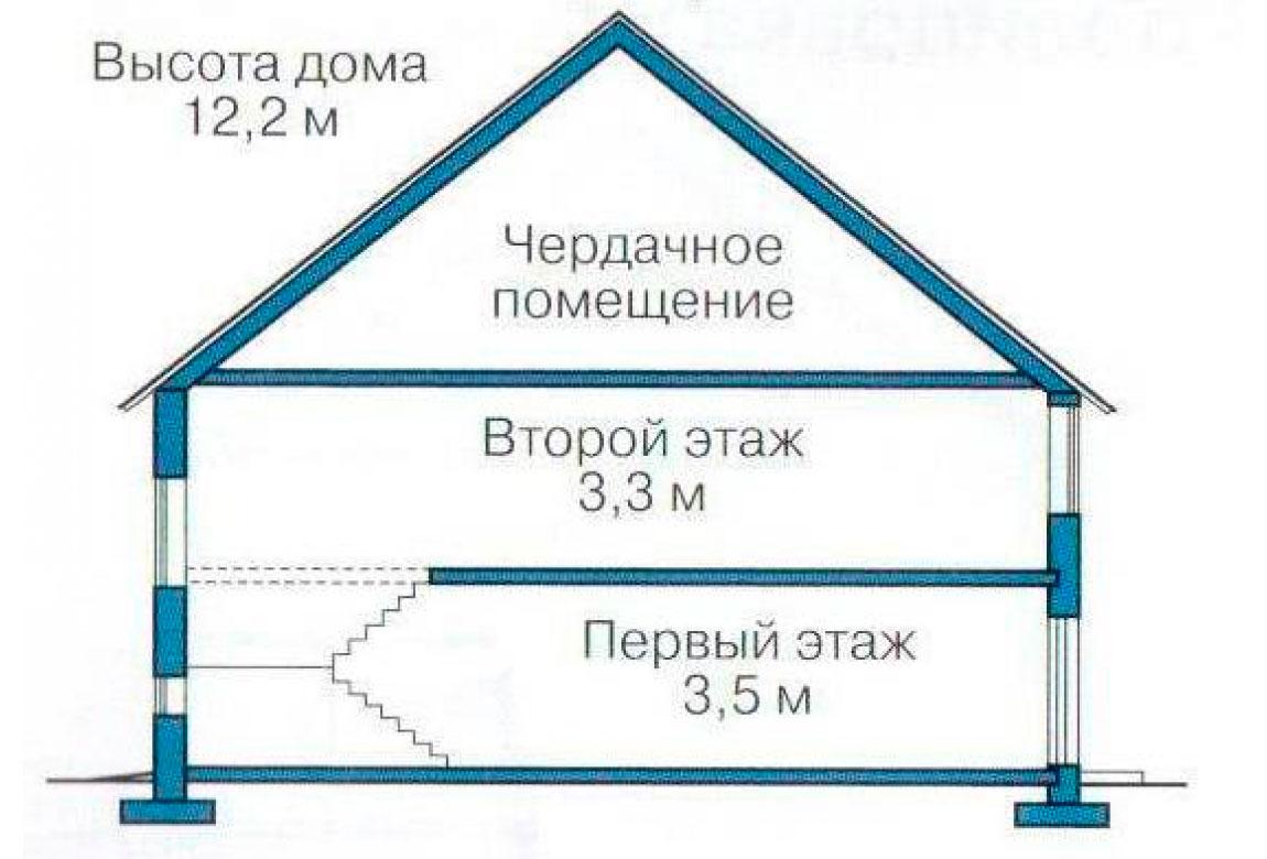 План N3 проекта кирпичного дома АСД-1078