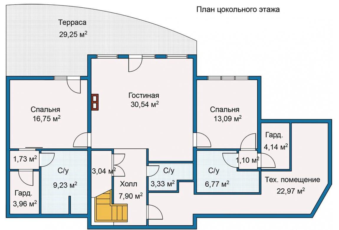 План N2 проекта каркасного дома АСД-Берег Ручья