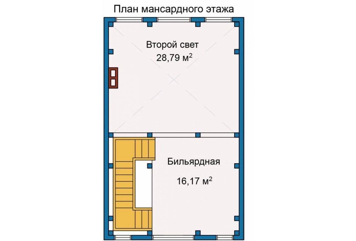 План N3 проекта каркасного дома АСД-Берег Ручья