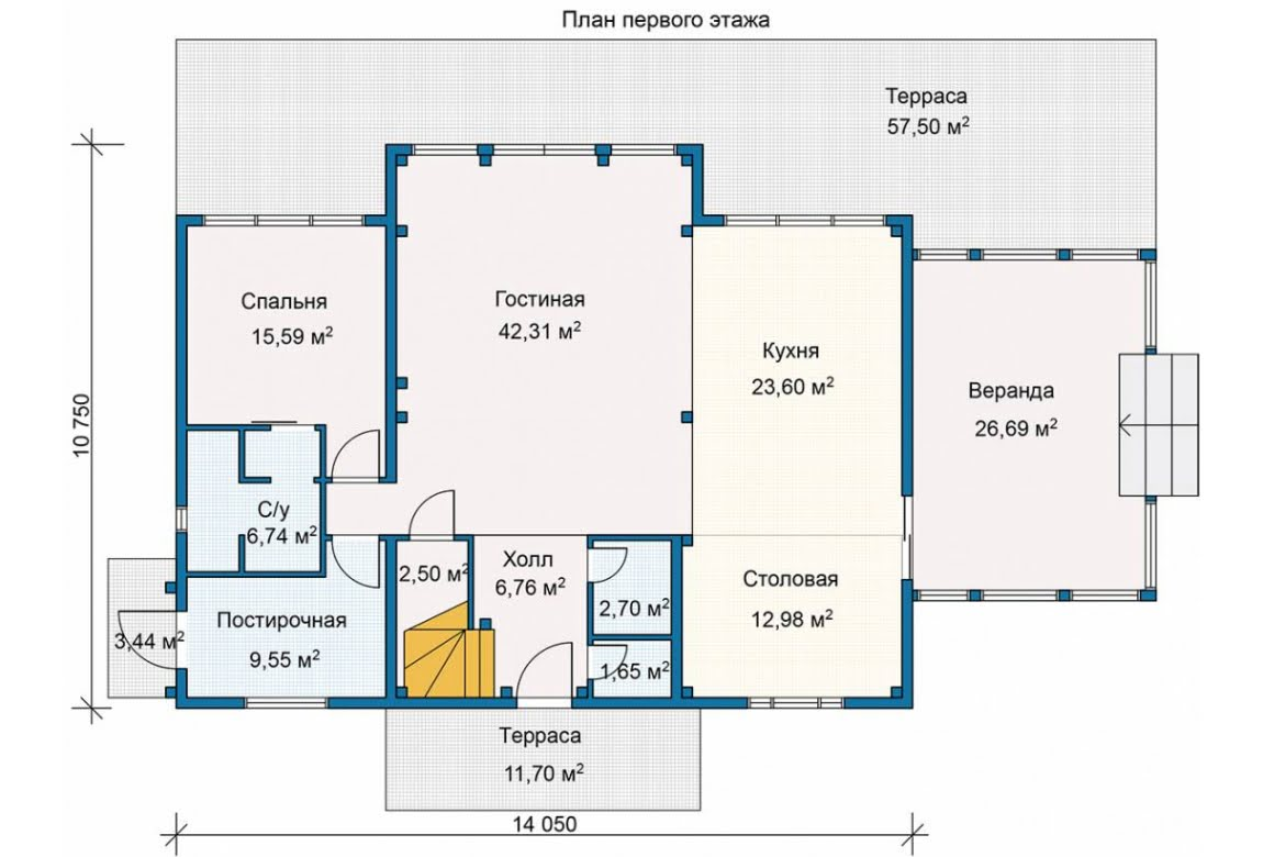 План N1 проекта каркасного дома АСД-Горный Хребет