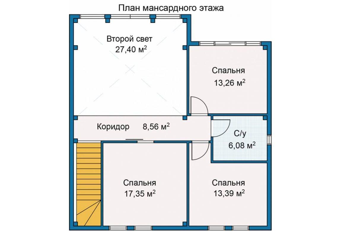 План N2 проекта каркасного дома АСД-Горный Хребет