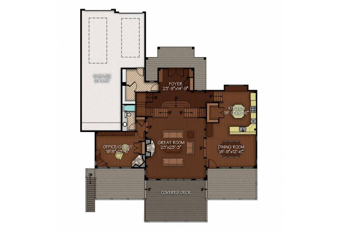План N1 проекта ВИП дома АСД-Склон Холма