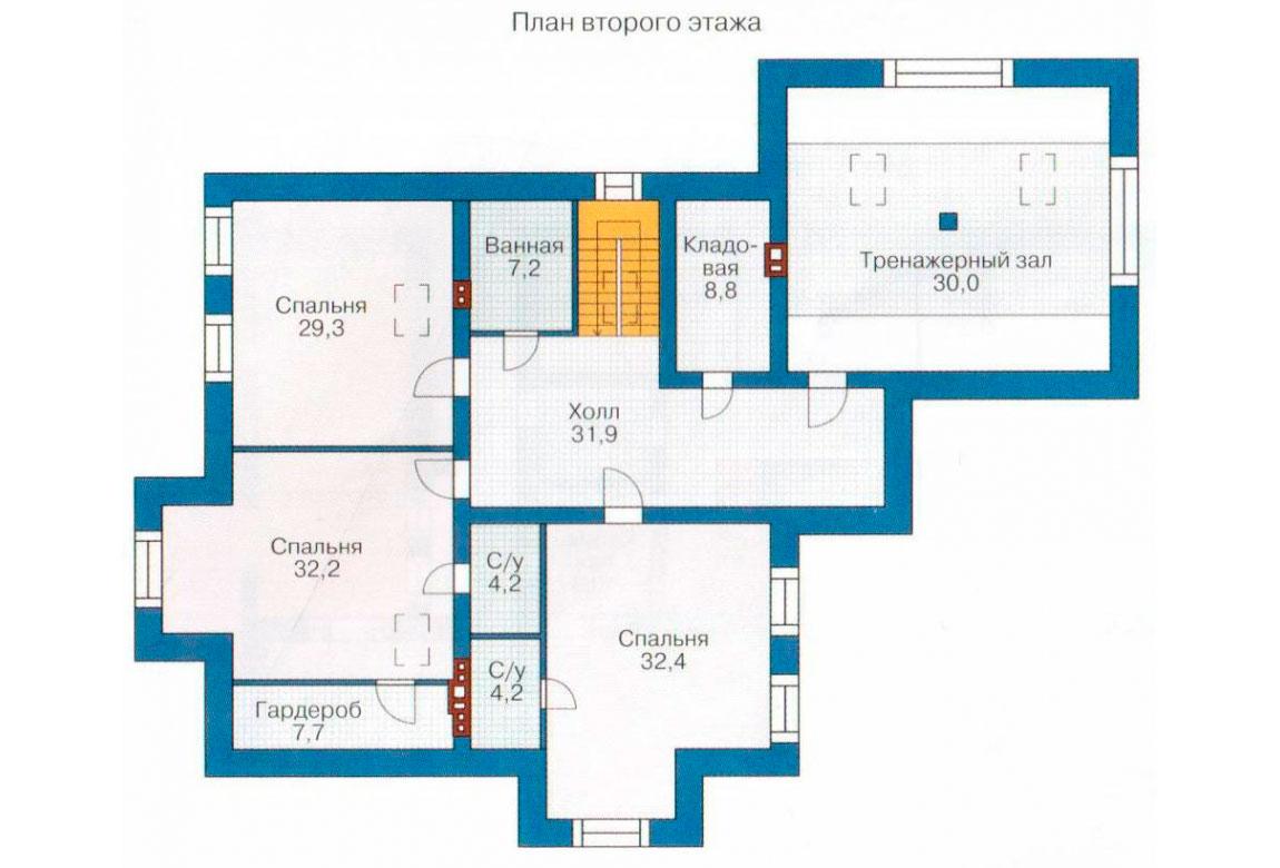 План N2 проекта кирпичного дома АСД-1079