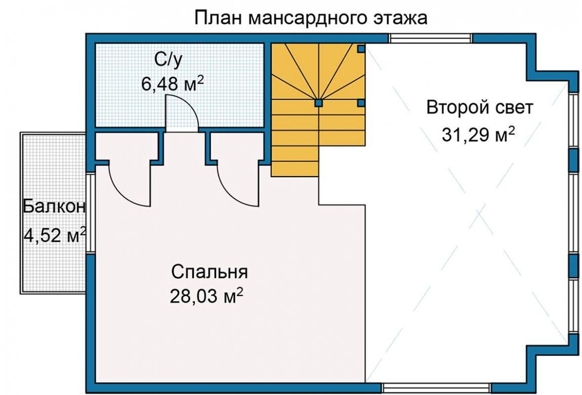 План N2 проекта каркасного дома АСД-Тихая Заводь