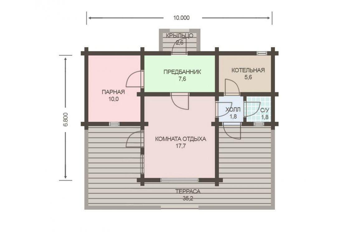 План N1 проекта бани АСД-1794