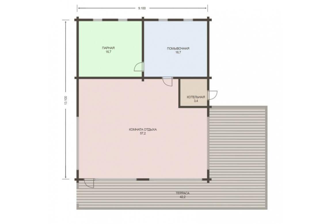 План N1 проекта бани АСД-1795