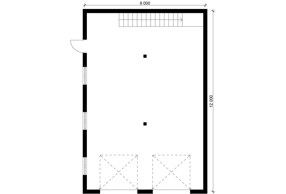 План N1 проекта гаража АСД-Венеция