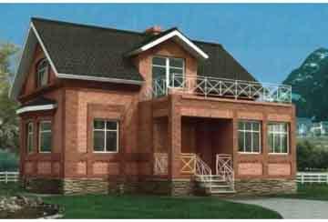 Проект кирпичного дома АСД-1008