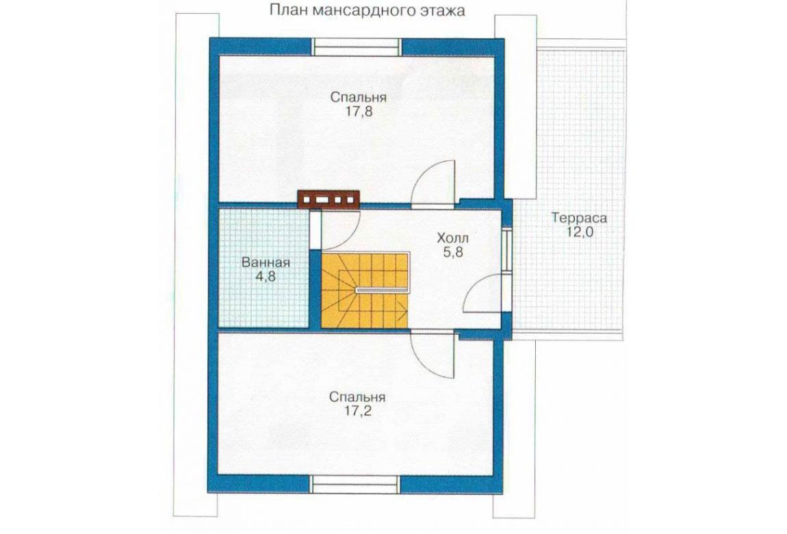 План N1 проекта кирпичного дома АСД-1008