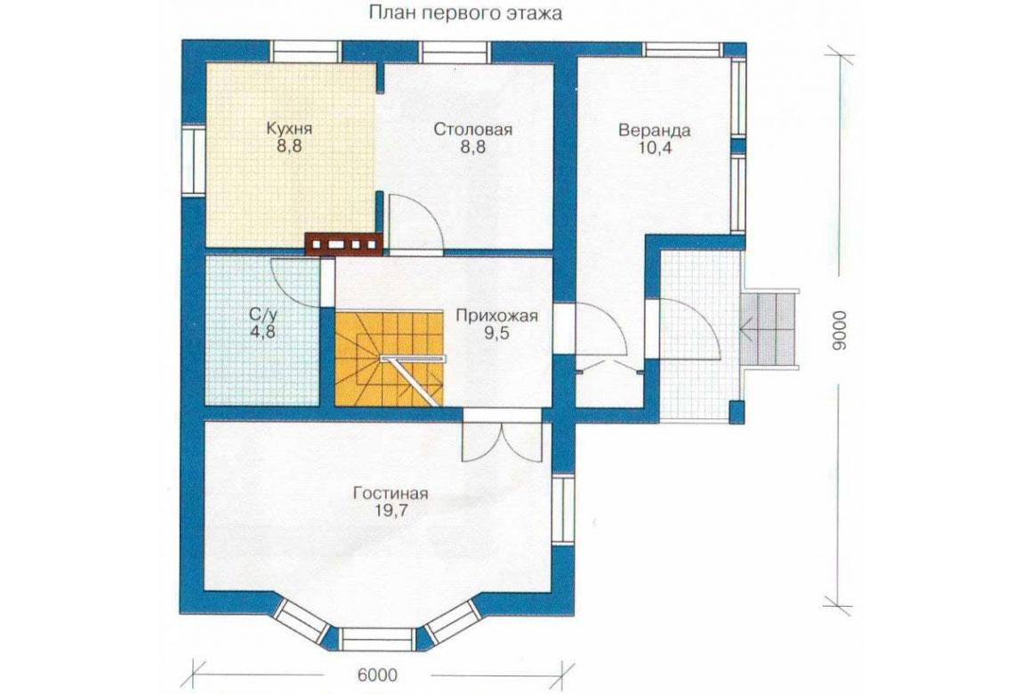 План N2 проекта кирпичного дома АСД-1008
