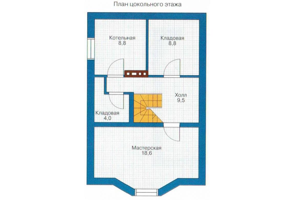 План N3 проекта кирпичного дома АСД-1008