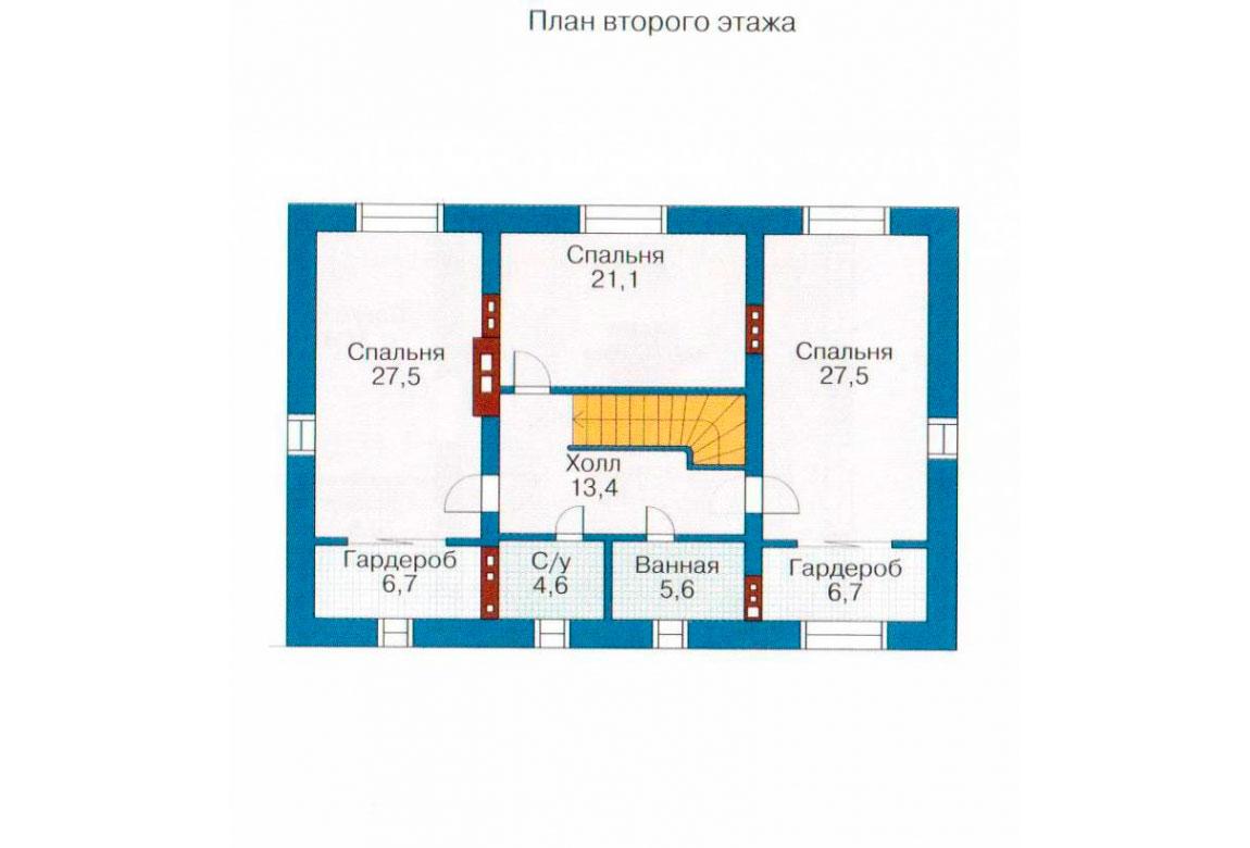 План N1 проекта кирпичного дома АСД-1080