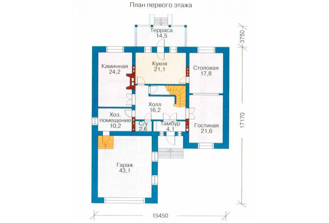 План N2 проекта кирпичного дома АСД-1080