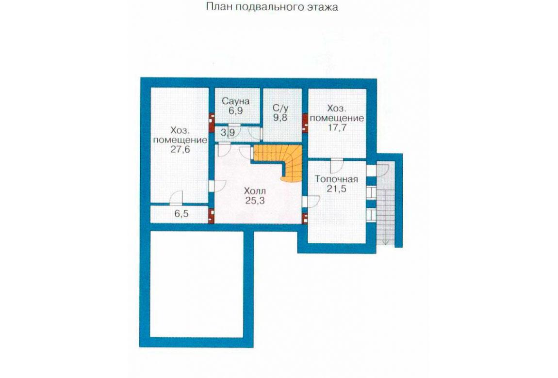 План N3 проекта кирпичного дома АСД-1080