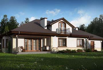 Проект дома из блоков АСД-1799