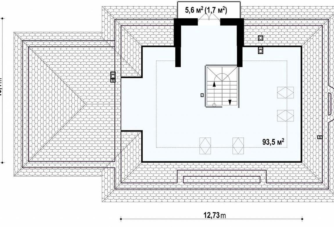 План N2 проекта дома из блоков АСД-1799