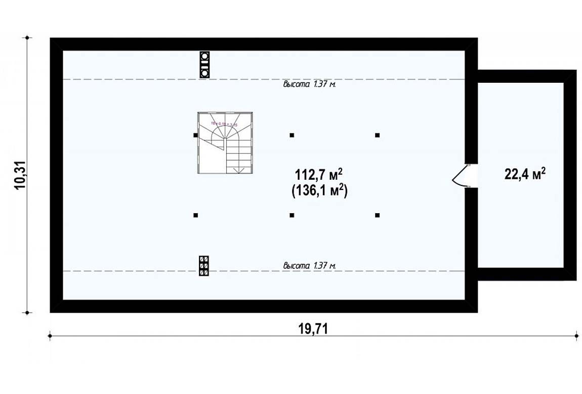 План N2 проекта дома из блоков АСД-1872