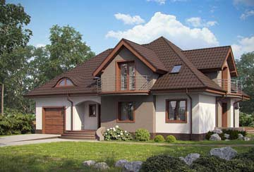 Проект дома из блоков АСД-1874