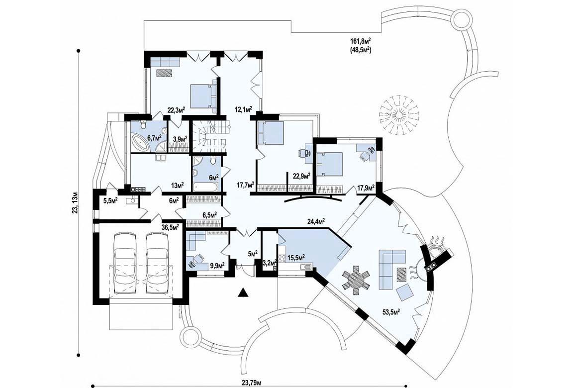 План N1 проекта ВИП дома АСД-1877