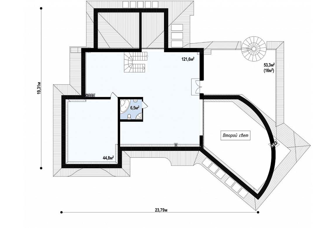 План N2 проекта ВИП дома АСД-1877