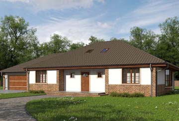 Проект дома из блоков АСД-1880