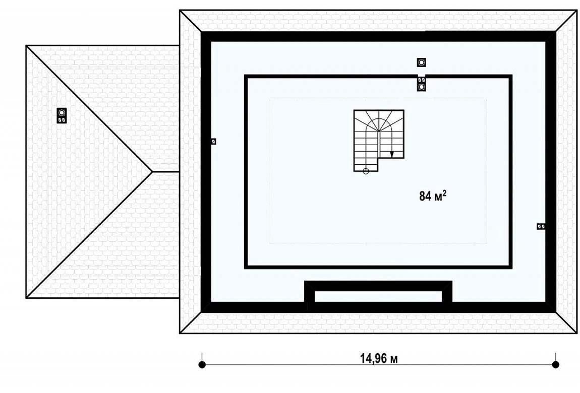 План N2 проекта дома из блоков АСД-1880
