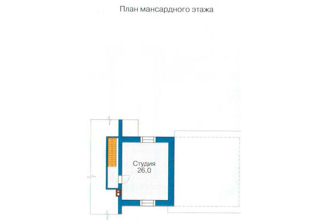 План N1 проекта кирпичного дома АСД-1081