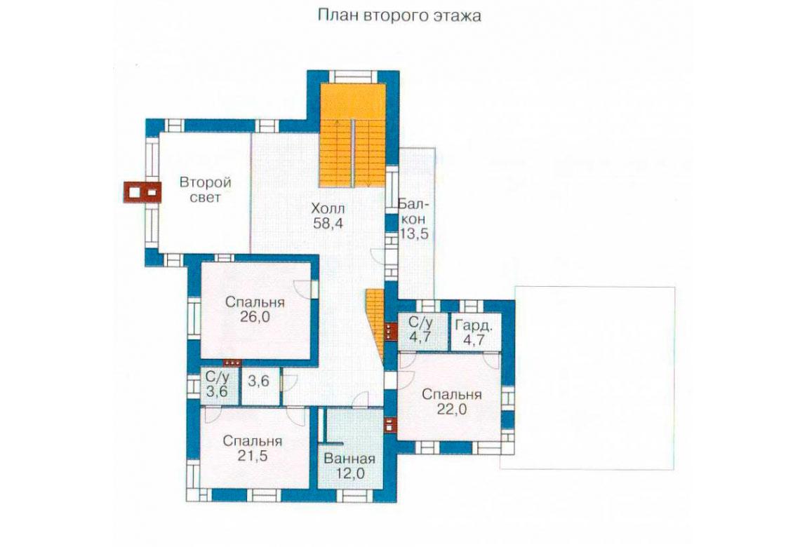 План N2 проекта кирпичного дома АСД-1081