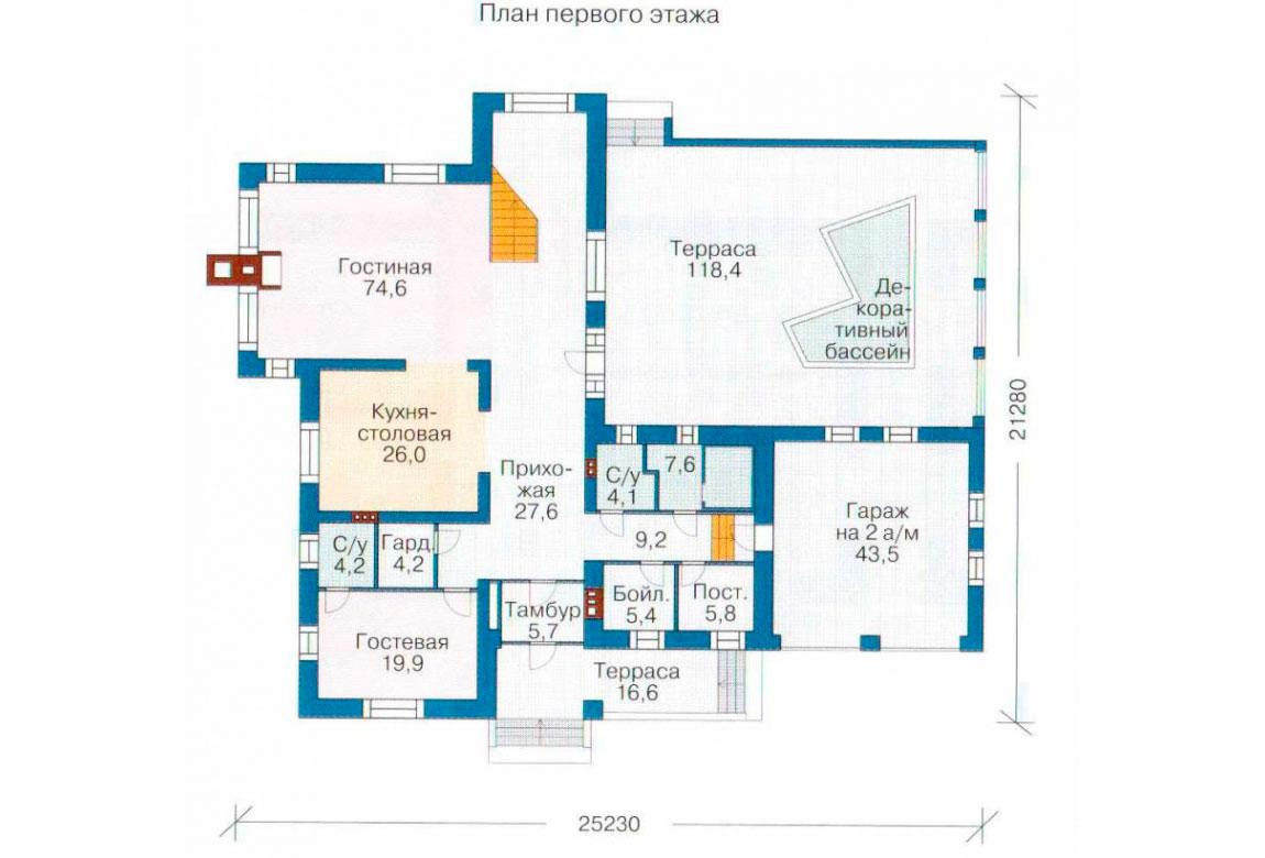 План N3 проекта кирпичного дома АСД-1081