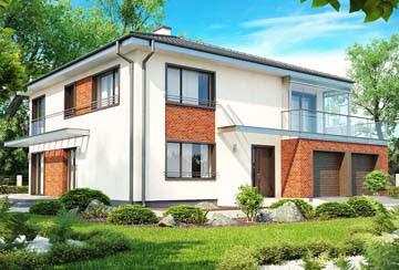 Проект дома из блоков АСД-1881