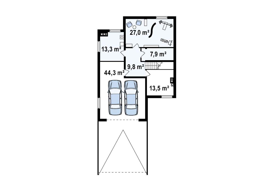 План N1 проекта дома из блоков АСД-1885