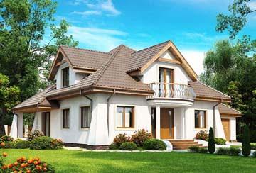 Проект дома из блоков АСД-1886