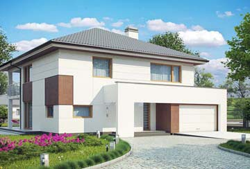 Проект дома из блоков АСД-1887