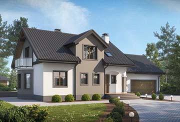 Проект дома из блоков АСД-1888