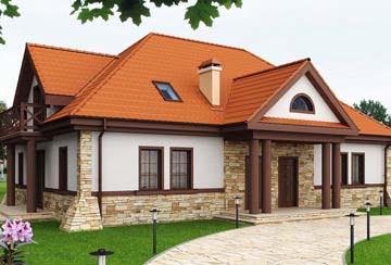 Проект дома из блоков АСД-1889