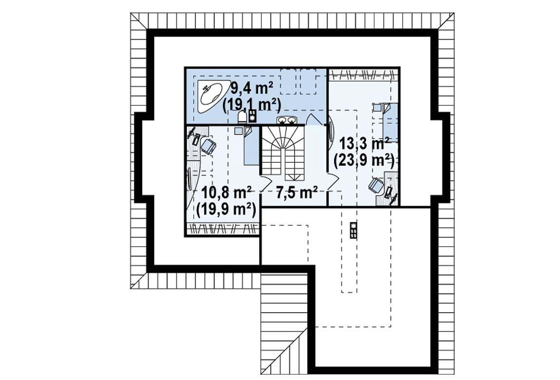 План N2 проекта дома из блоков АСД-1890