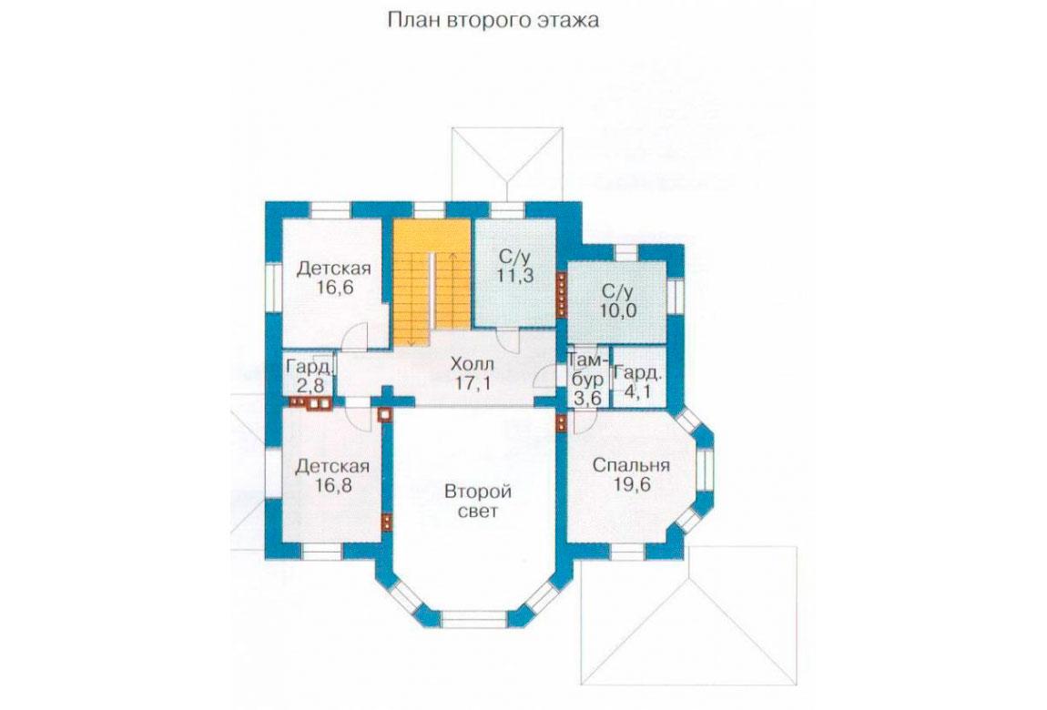 План N1 проекта кирпичного дома АСД-1082