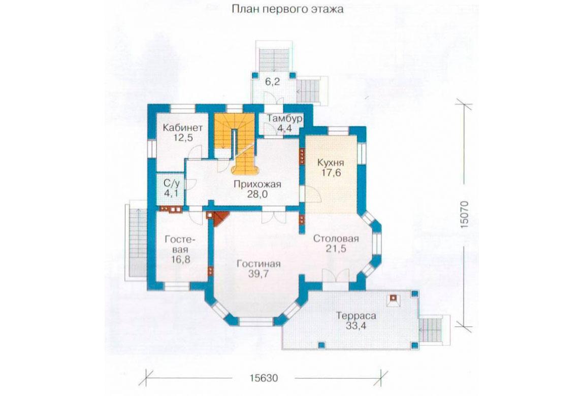 План N2 проекта кирпичного дома АСД-1082